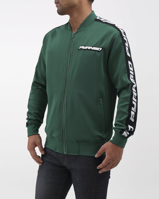 Pyramid Taping Track Jacket - Color: OLIVE | Green