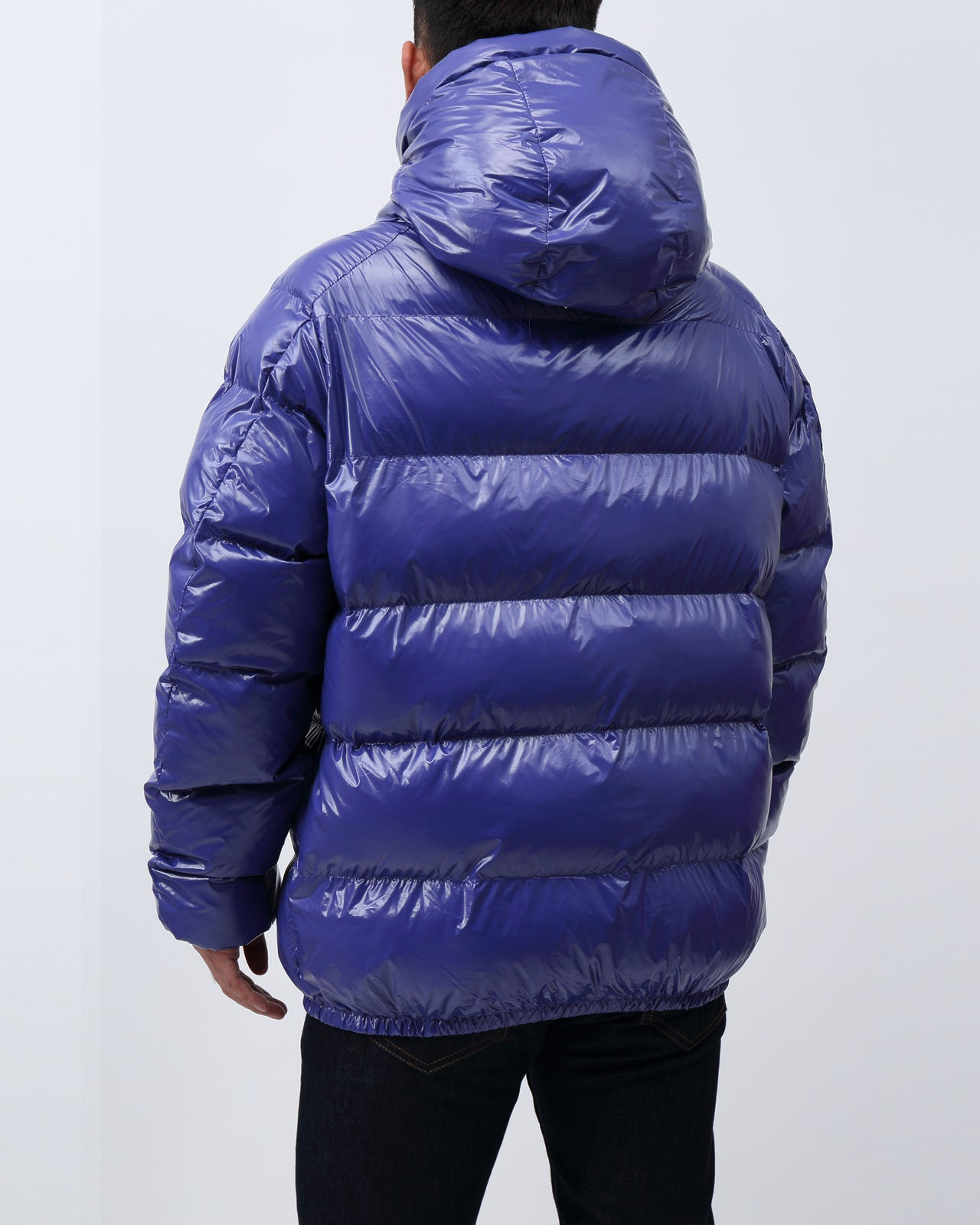 BP Full Zip Taped Placket Puffy Jacket - Color: Blue