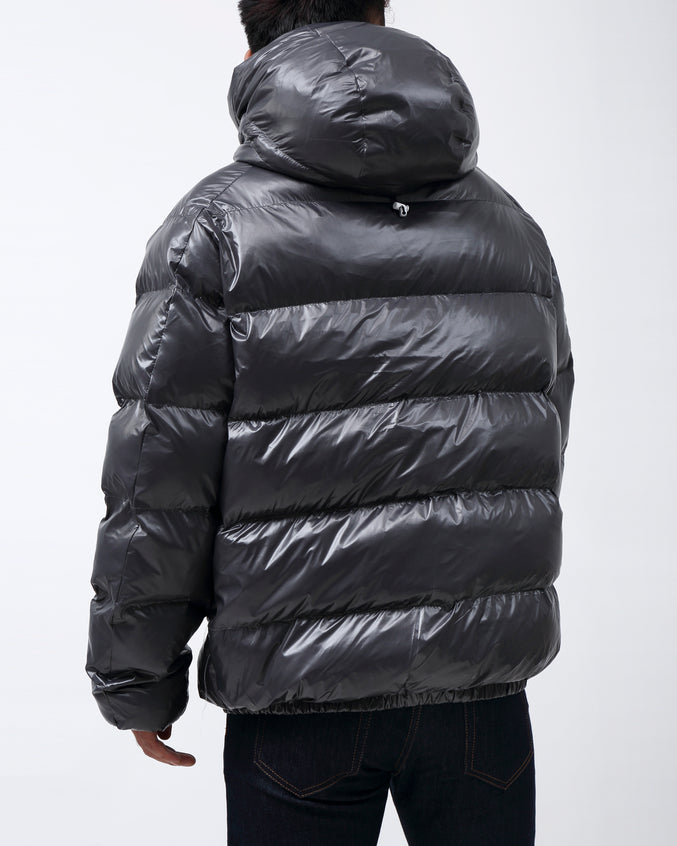BP Full Zip Taped Placket Puffy Jacket - Color: GRAY