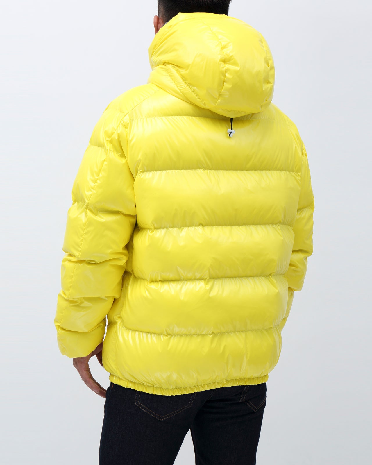 BP Full Zip Taped Placket Puffy Jacket - Color: Yellow