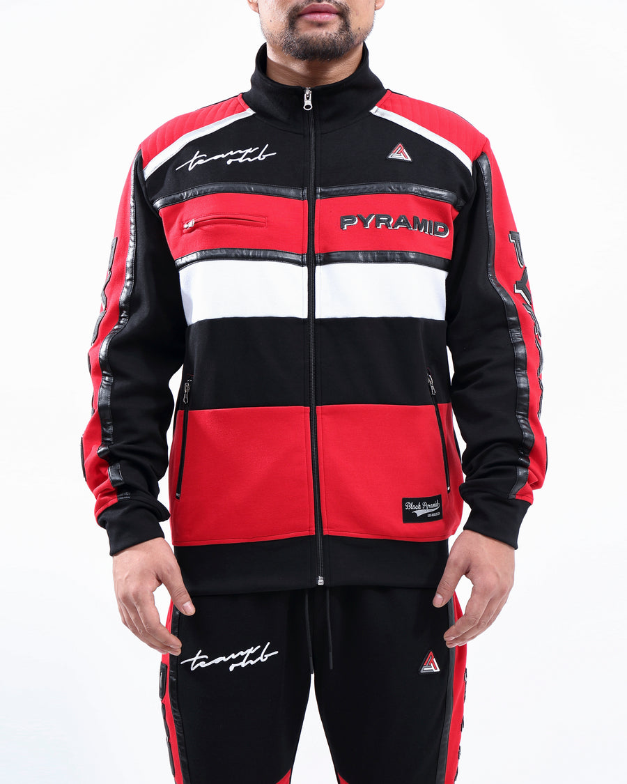 TEAM OHB CRIMSON TRACK JACKET
