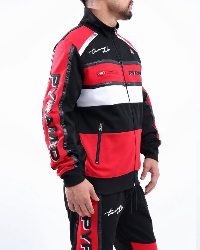 TEAM OHB CRIMSON TRACK JACKET - Color: Red