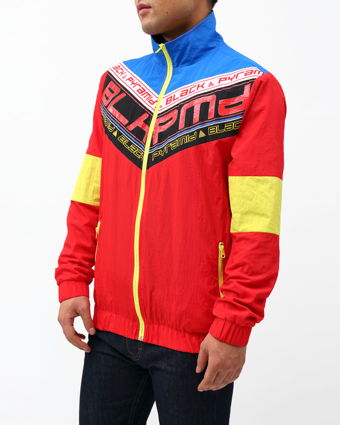 FUTURE OF NEON TRACK JACKET - Color: RED