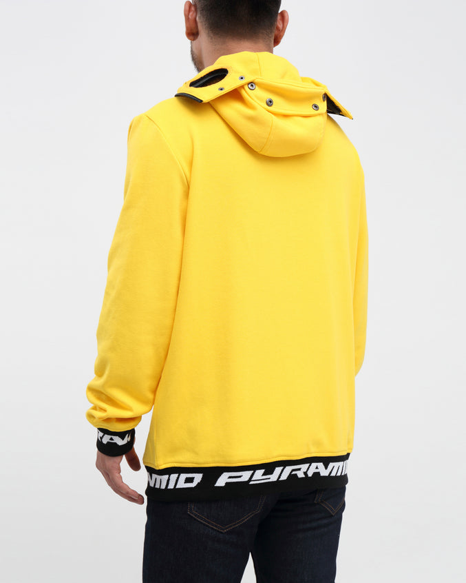 GOGGLES ZIP UP JACKET - Color: YELLOW