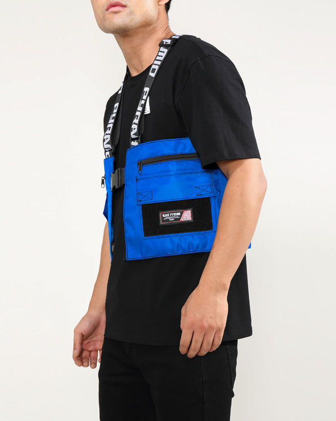SPLINTER SOLID MILITARY VEST-COLOR: BLUE