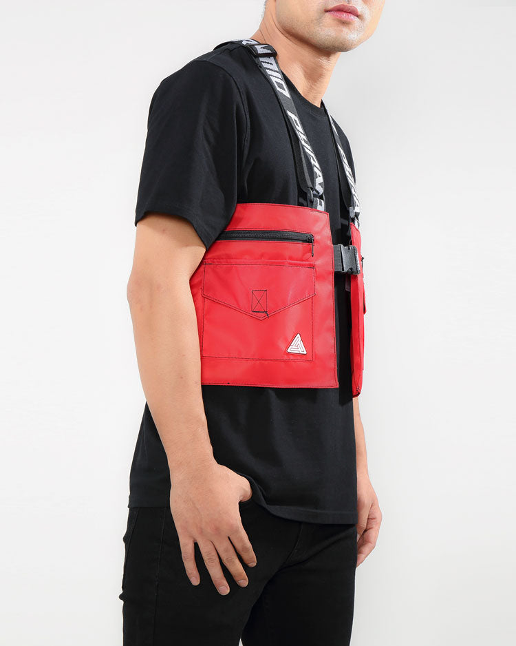 SPLINTER SOLID MILITARY VEST-COLOR: RED