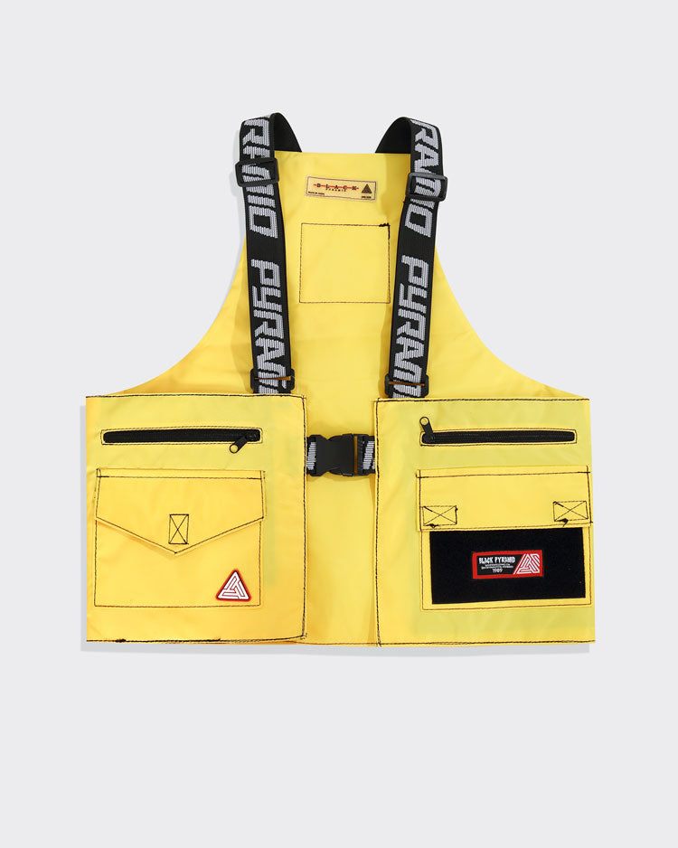SPLINTER SOLID MILITARY VEST-COLOR: YELLOW