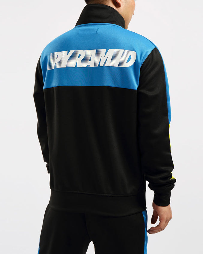 SPEED PIECED TRACK JACKET-COLOR: BLACK