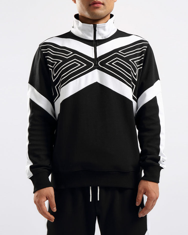 MAZE TRACK JACKET-COLOR: BLACK