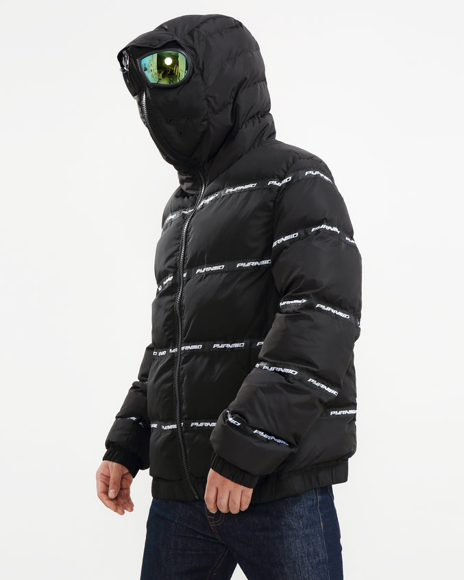 Main Logo Goggle Down Jacket-color: BLACK