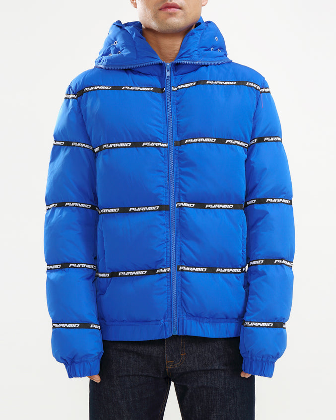 Main Logo Goggle Down Jacket-color: BLUE