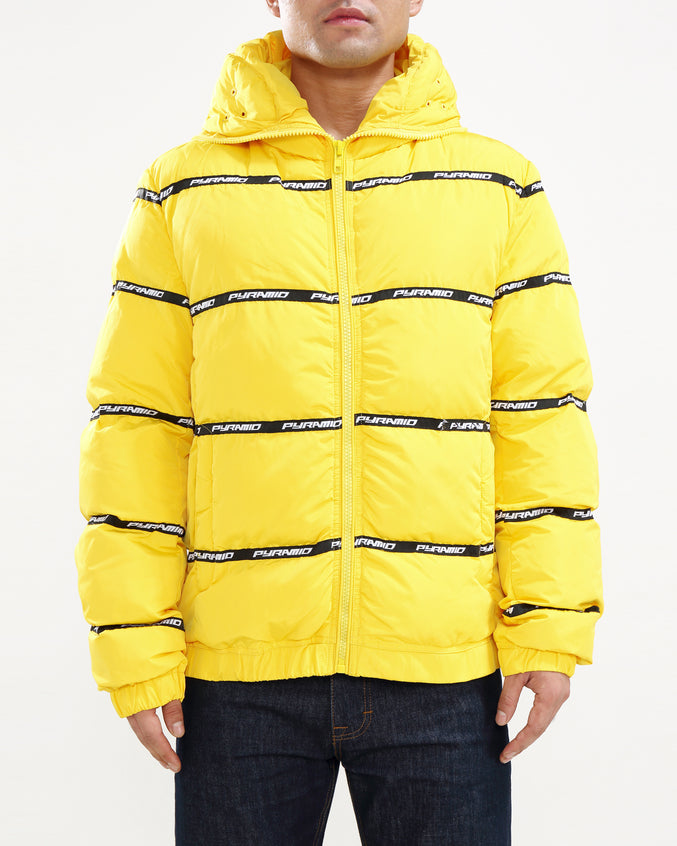 Main Logo Goggle Down Jacket-COLOR: YELLOW