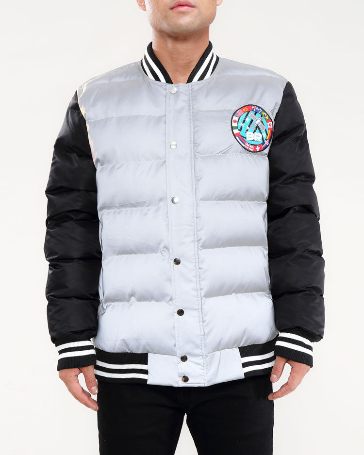 Space Down Varsity Jacket