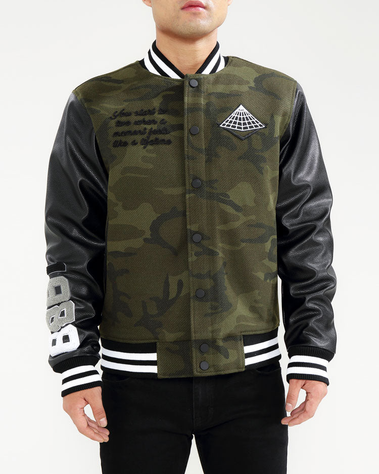 Core Logo Varsity Jacket-COLOR: CAMO