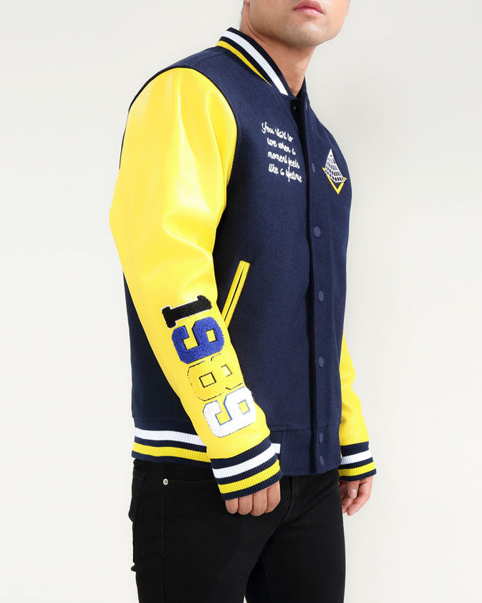 Core Logo Varsity Jacket-COLOR: YELLOW