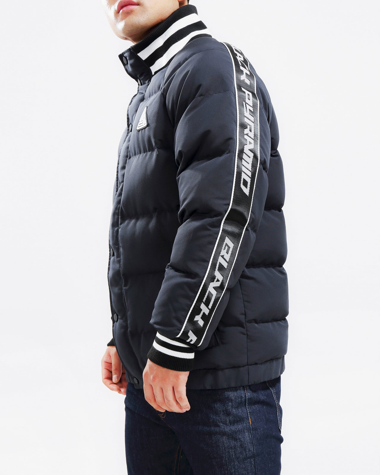 Arch Rape Puffer Jacket-COLOR: BLACK
