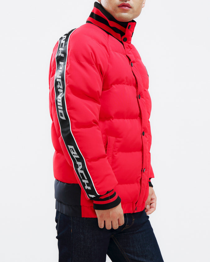 Arch Rape Puffer Jacket-COLOR: RED