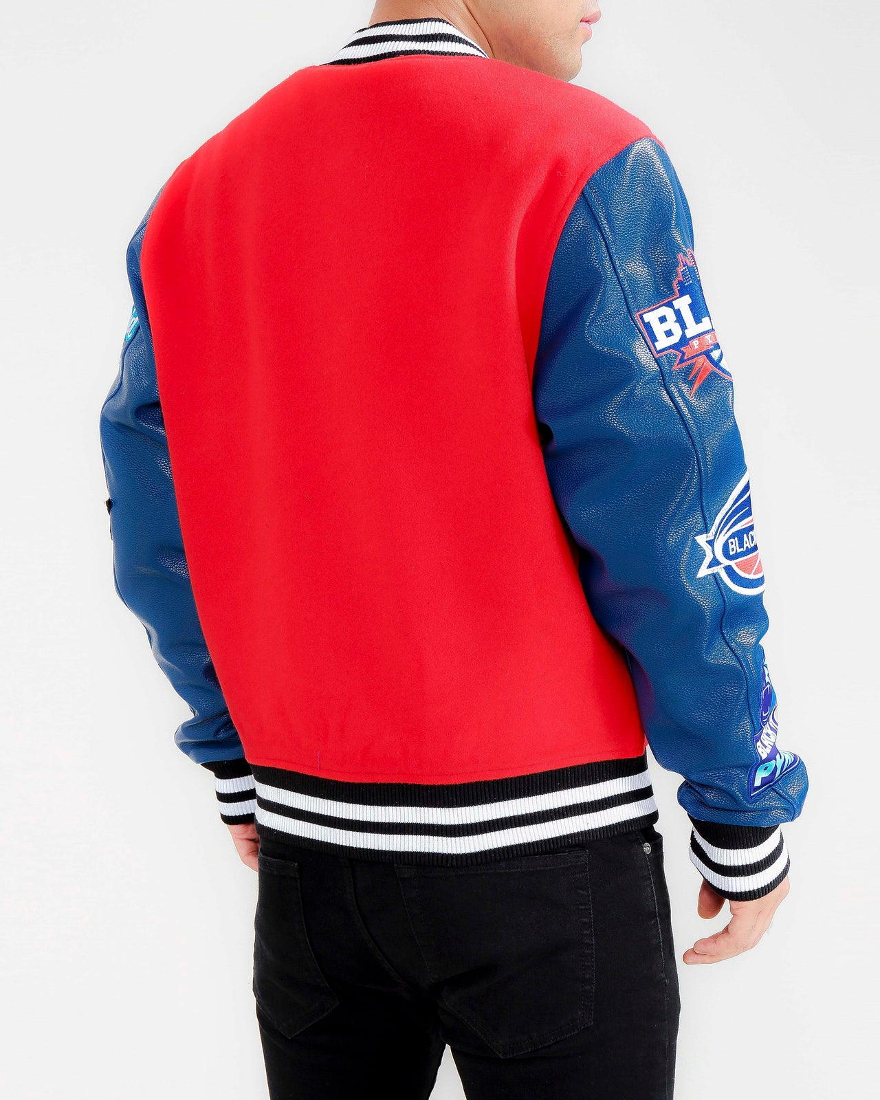 Basketball Varsity Jacket-COLOR: RED