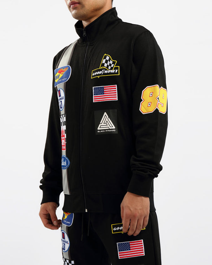 GREASE MONKEY TRACK JACKET-COLOR: BLACK