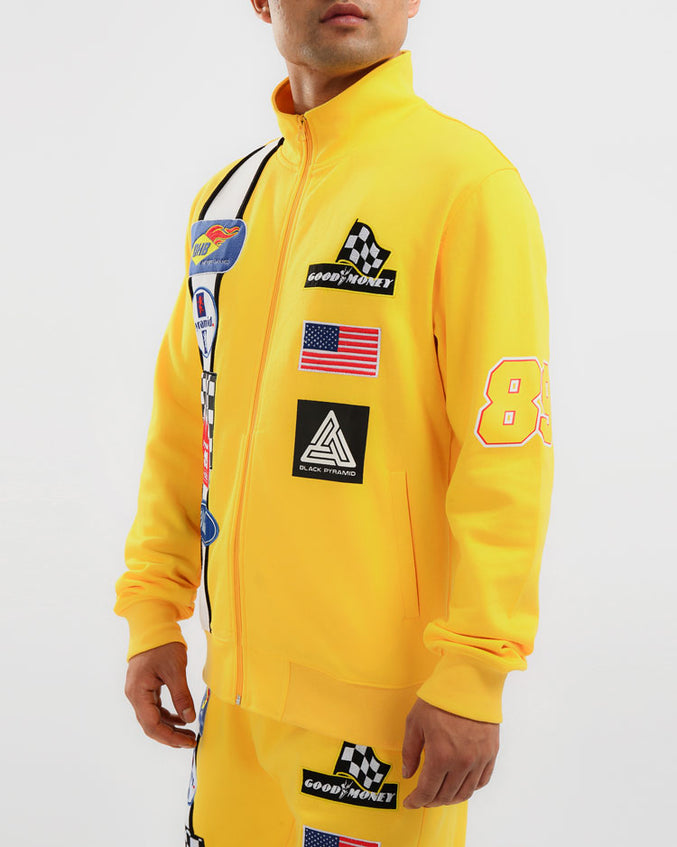 GREASE MONKEY TRACK JACKET-COLOR: YELLOW