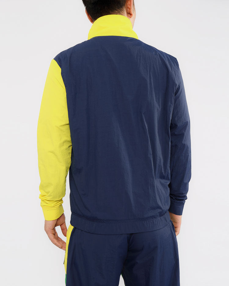 CIRCLES PULL OVER JACKET-COLOR: YELLOW