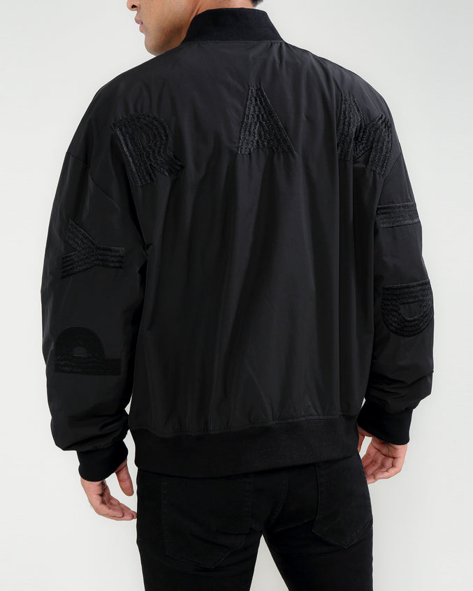 Arch Logo Jacket-COLOR: BLACK