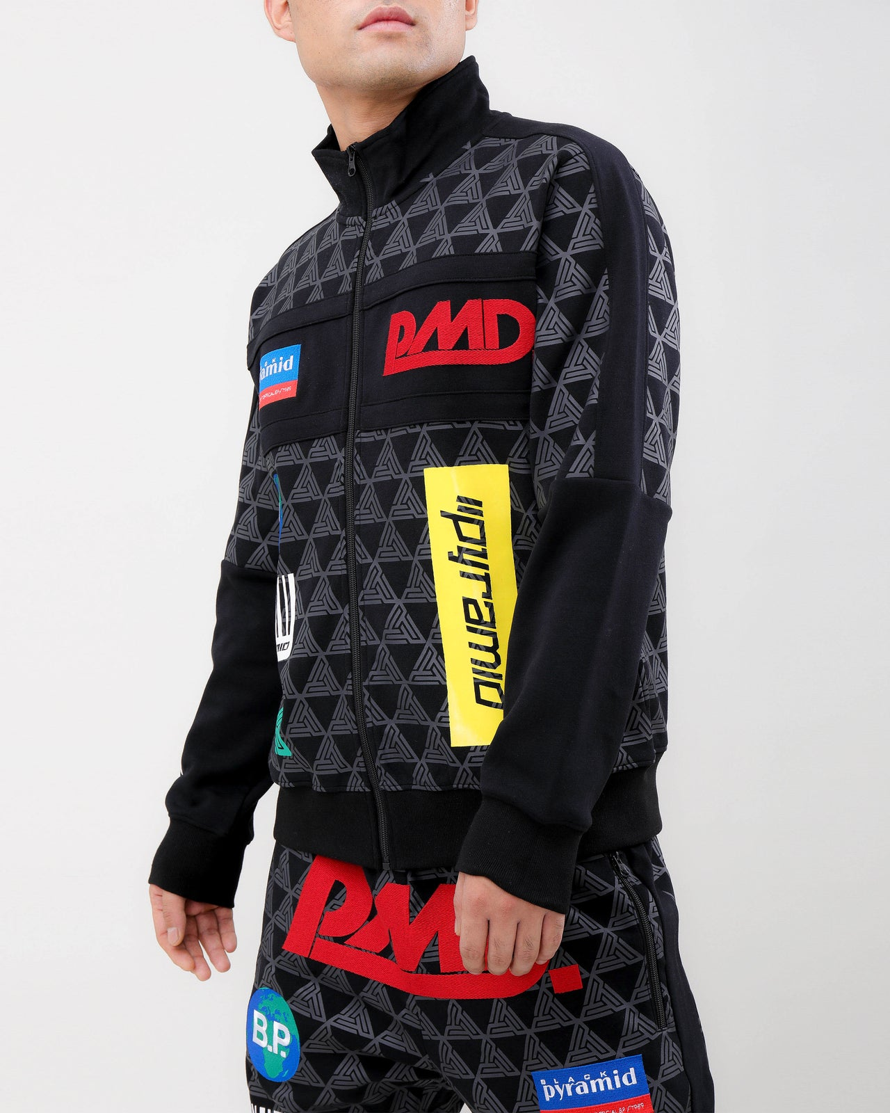 GRAND PRIX TRACK JACKET-COLOR: BLACK