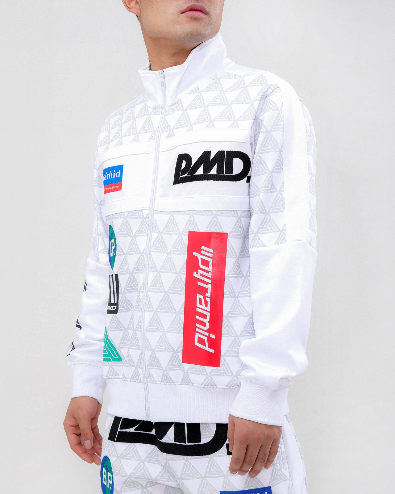 GRAND PRIX TRACK JACKET-COLOR: WHITE