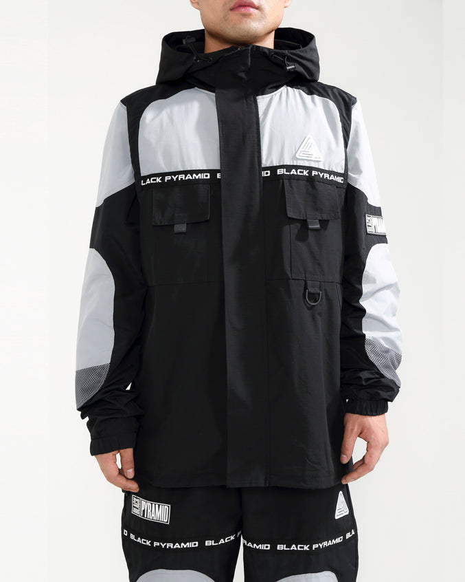 RIP STOP TECH JACKET-COLOR: BLACK