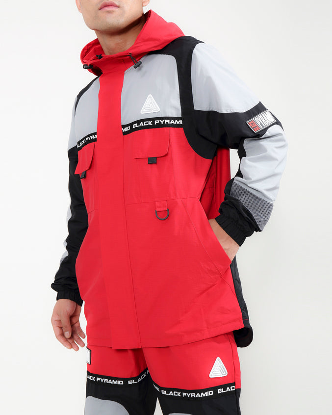 RIP STOP TECH JACKET-COLOR: RED