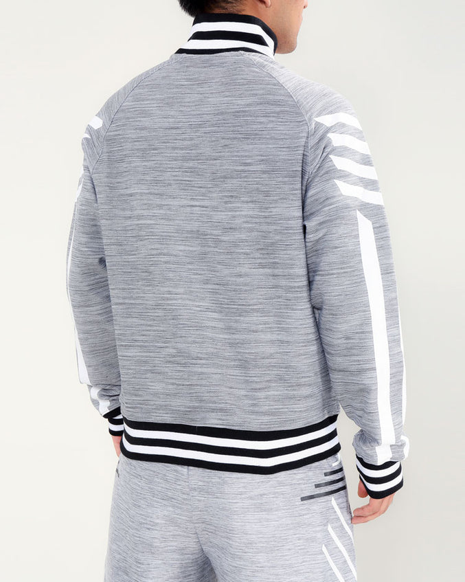 CYBER PYRAMID TRACK JACKET-COLOR: HEATHER GRAY