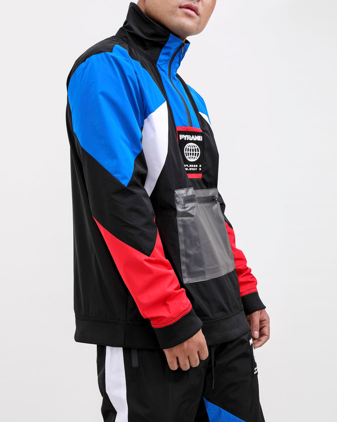 WORLDWIDE PULLOVER JACKET-COLOR: BLUE