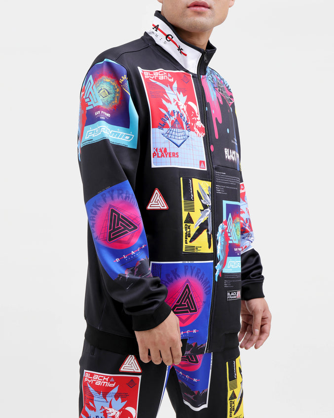 FUTURE RELIC TRACK JACKET-COLOR: BLACK