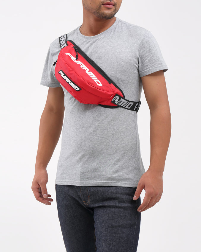 BIG PYRAMID WAIST BAG - Color: Red