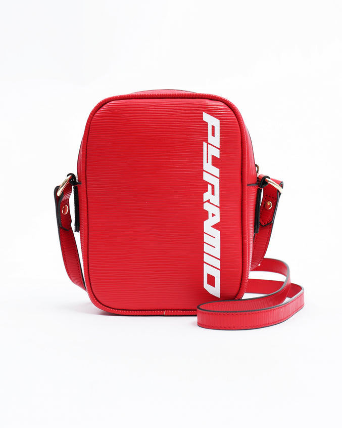 Lux Pyramid Small Side Bag - Color: RED