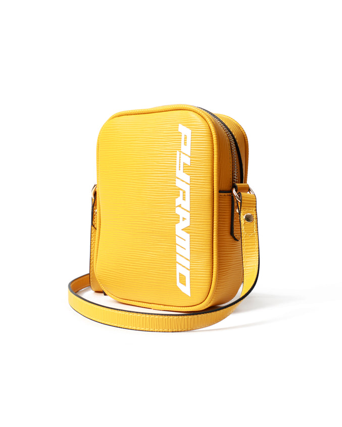 Lux Pyramid Small Side Bag - Color: Yellow