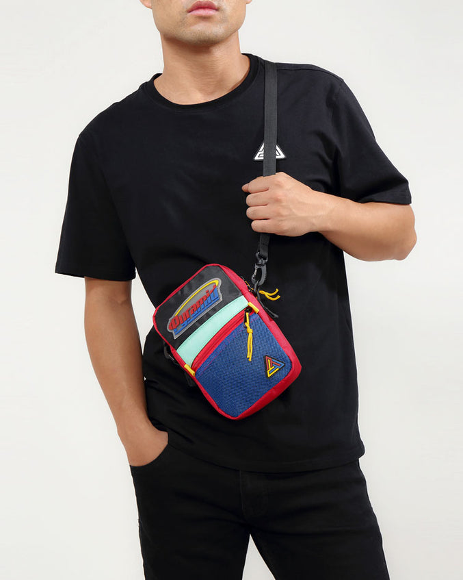 ORBIT LOGO SMALL SIDE BAG-COLOR: BLACK