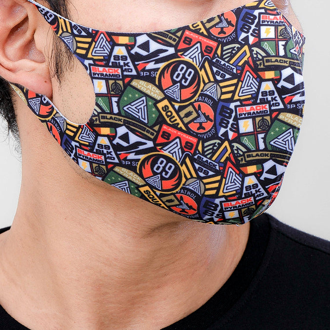 PATCH MADNESS FACE MASK-COLOR: MULTI
