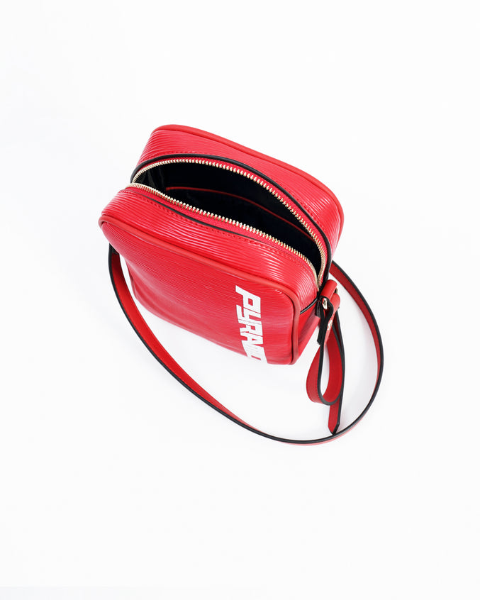 Lux Pyramid Medium Side Bag - Color: Red