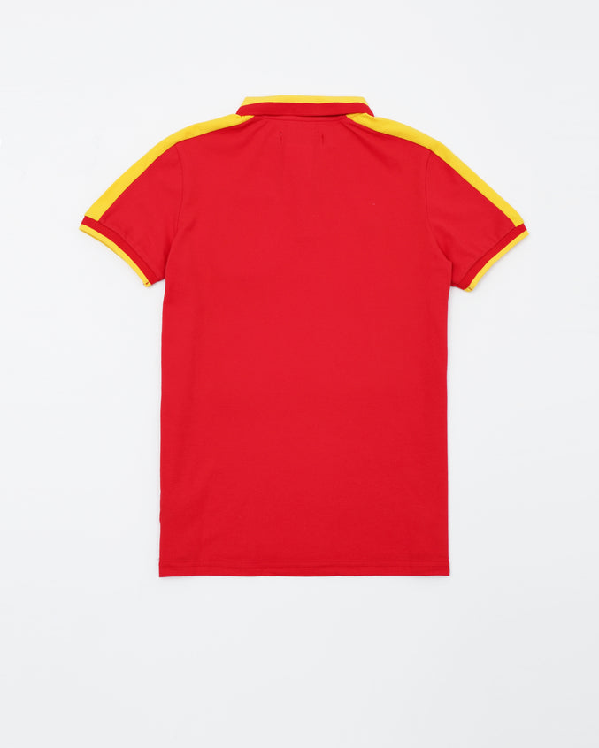 B Pyramid Kids Polo - Color: Red