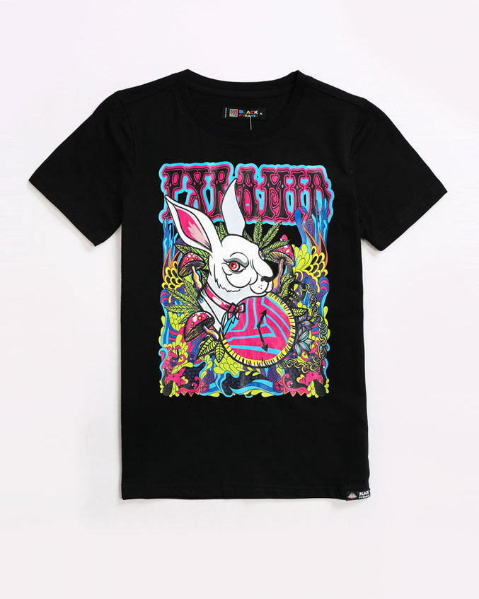 KIDS HARE TEE-COLOR: BLACK