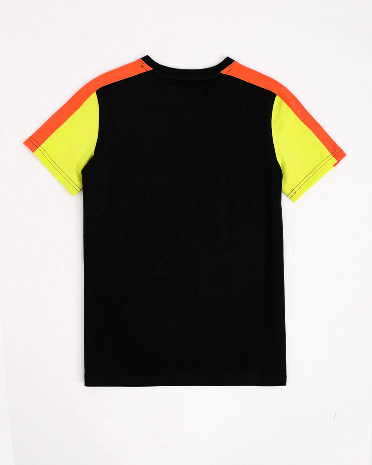 KIDS TOP SPLATTER SHIRT-COLOR: BLACK
