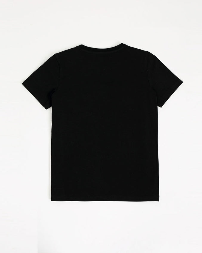 KIDS ARCHED DRIP B BALL TOP-COLOR: BLACK