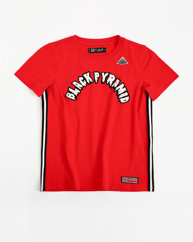 KIDS ARCHED DRIP B BALL TOP-COLOR: RED