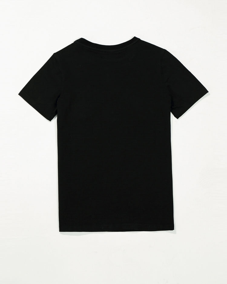 KIDS THE BIGS OG SRIP SHIRT-COLOR: BLACK