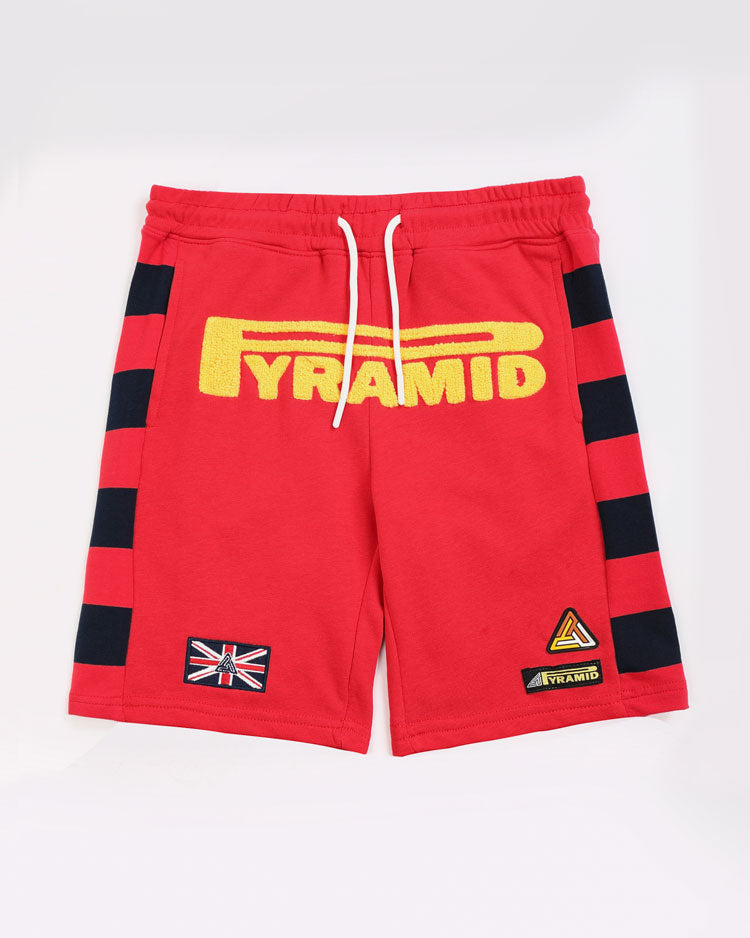 KIDS GAME STRIPE SHORT-COLOR: RED