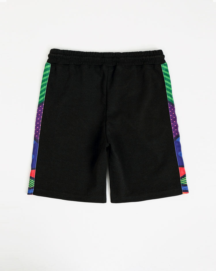 KIDS BRITTO EYES LOGO SHORT-COLOR: BLACK