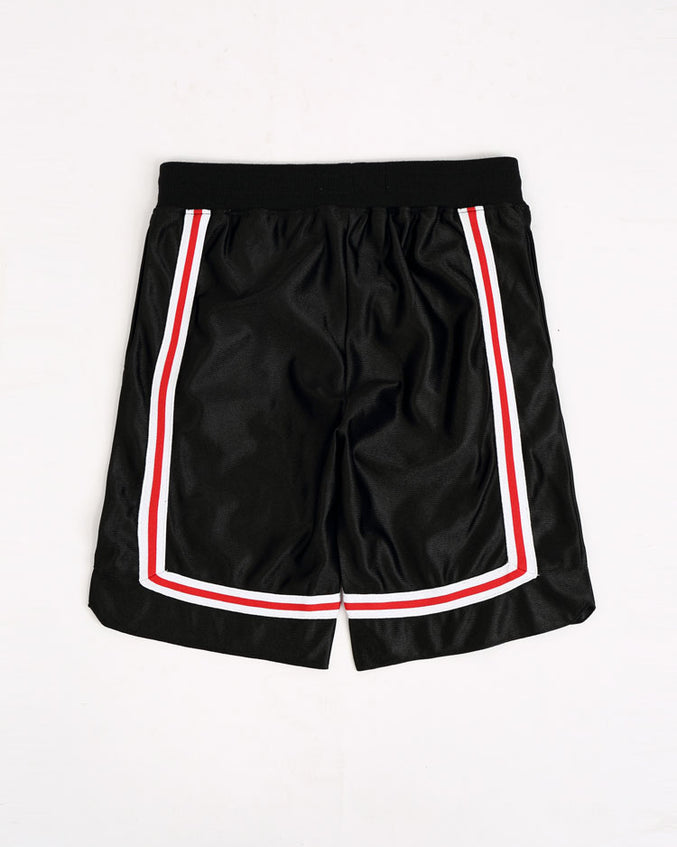 KIDS ARCHED DRIP B BALL SHORTS-COLOR: BLACK