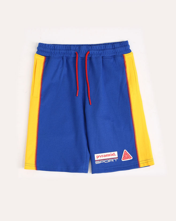 Kids Reverse Terry Sport Shorts-COLOR: BLUE