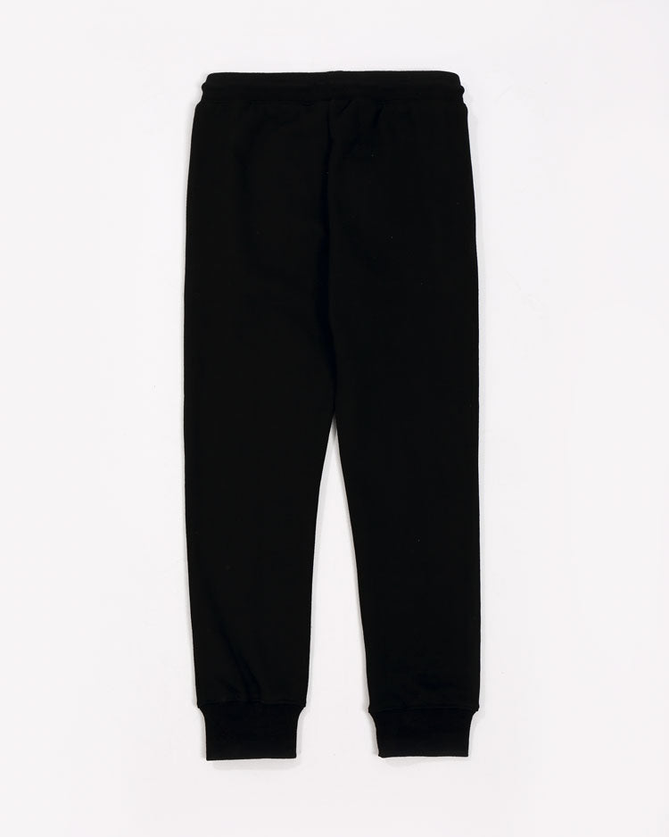 KIDS COLLAGE TYPE PANTS-COLOR: BLACK